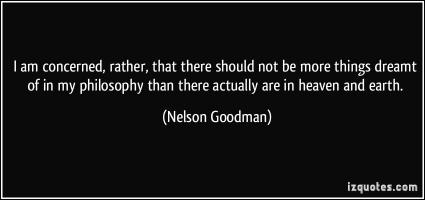 Nelson Goodman's quote #1