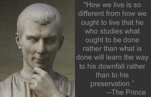 Niccolo Machiavelli's quote
