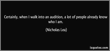 Nicholas Lea's quote
