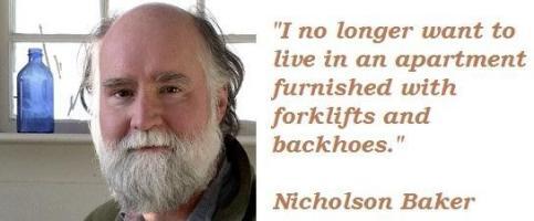 Nicholson Baker's quote