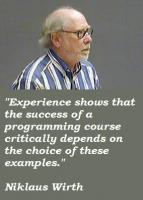 Niklaus Wirth's quote