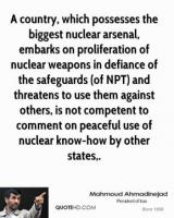 Nuclear Arsenals quote #2