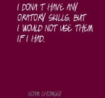 Oratory quote #1