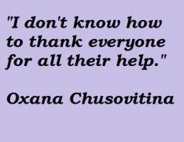 Oxana Chusovitina's quote