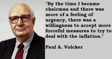 Paul A. Volcker's quote