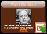 Paul de Man's quote