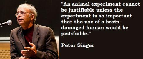 Peter Singer's quote