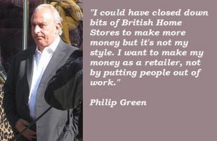 Philip Green's quote