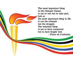 Pierre de Coubertin's quote