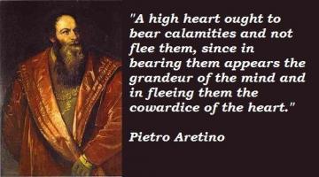 Pietro Aretino's quote