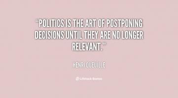 Postponing quote #1
