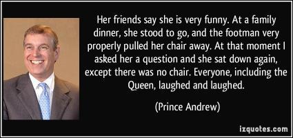 Prince Andrew's quote