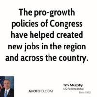 Pro-Growth Policies quote