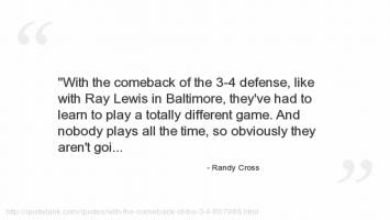 Randy Cross's quote