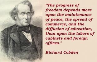 Richard Cobden's quote