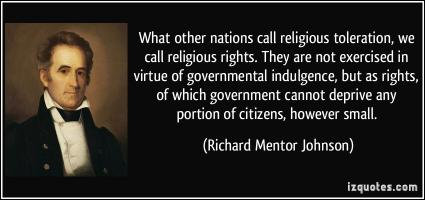 Richard Mentor Johnson's quote