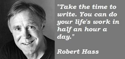 Robert Hass's quote