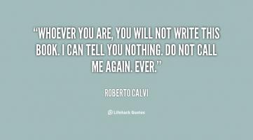 Roberto Calvi's quote #1