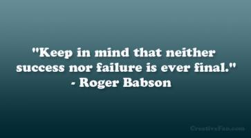Roger Babson's quote