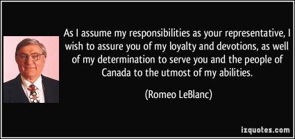 Romeo LeBlanc's quote #5