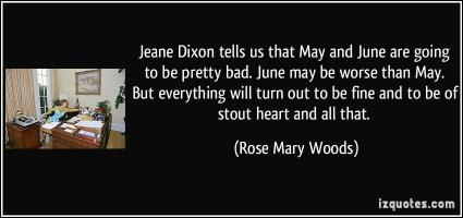 Rose Mary Woods's quote #1