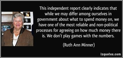 Ruth Ann Minner's quote