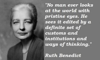 Ruth Benedict's quote