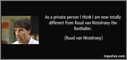 Ruud van Nistelrooy's quote