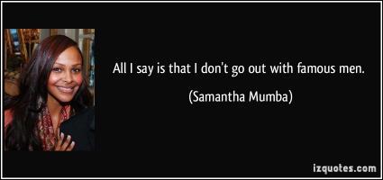Samantha Mumba's quote