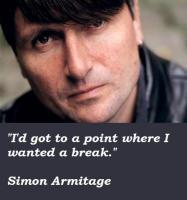 Simon Armitage's quote