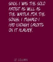 Solo Artist quote #2