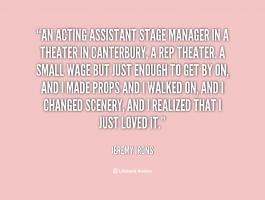 Stage Acting quote #2