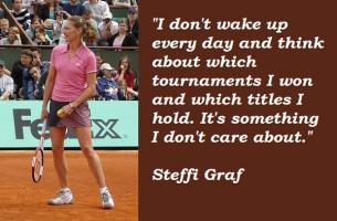 Steffi Graf's quote