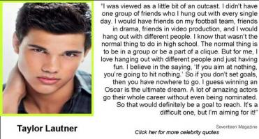 Taylor Lautner's quote