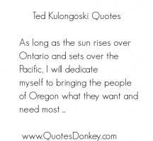 Ted Kulongoski's quote