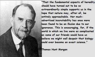 Thomas Hunt Morgan's quote