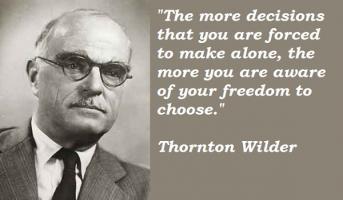 Thornton Wilder's quote