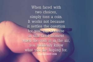 Toss quote #1