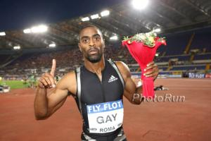 Tyson Gay's quote