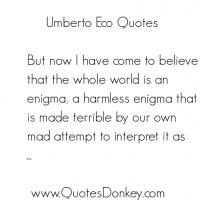 Umberto Eco's quote