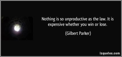 Unproductive quote