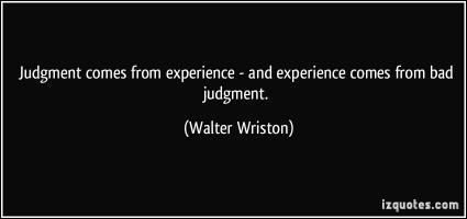 Walter Wriston's quote