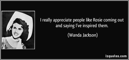 Wanda Jackson's quote