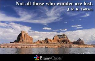 Wandered quote #1