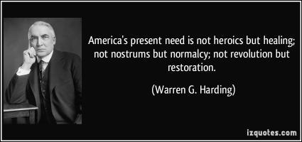 Warren G. Harding's quote #2