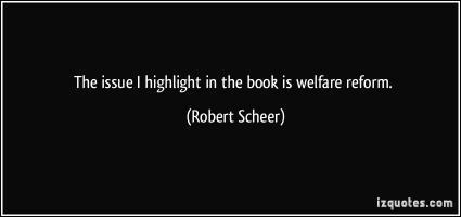 Welfare Reform quote
