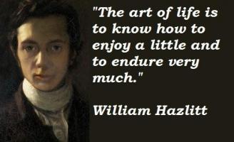 William Hazlitt's quote