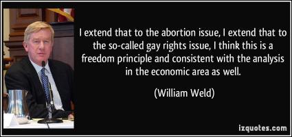 William Weld's quote