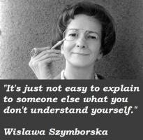 Wislawa Szymborska's quote