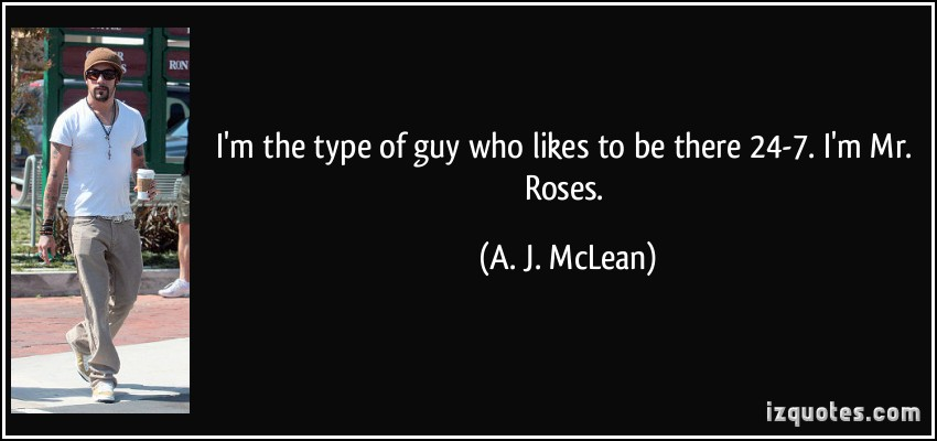 A. J. McLean's quote #3